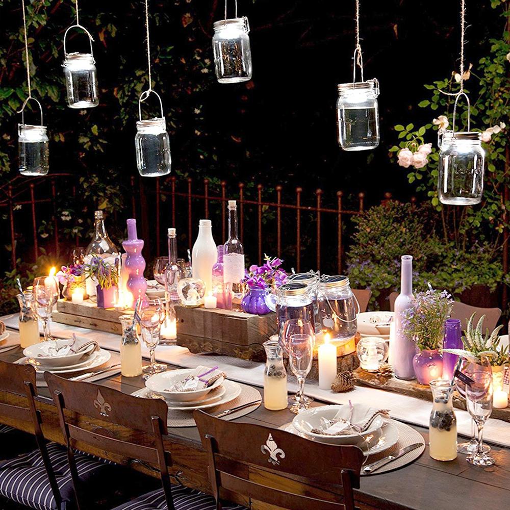 Lampada solare in barattolo - Happy casa arredo giardino ...