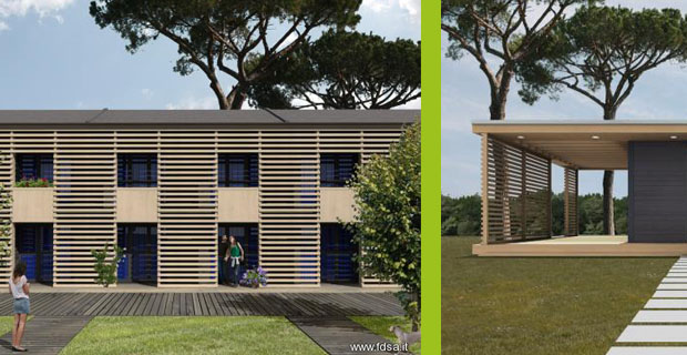 Case prefabbricate in legno su misura sostenibili evolute for Piani domestici sostenibili