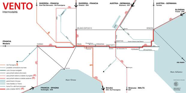 mappa ven to pista cilabile vento infografica