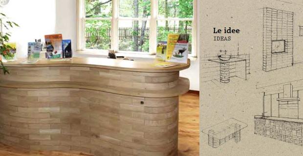 Blocco il mattone in legno per l arredo ecologico for Arredamento ecologico