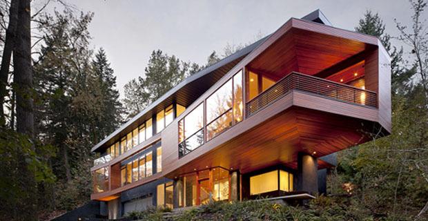 La casa di twilight una costruzione verde dal design for Piani di costruzione casa verde