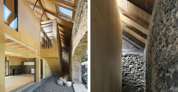 jona barn il granaio in pietra con un cuore di legno