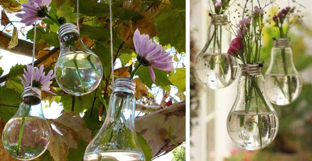 Riciclare le vecchie lampadine ad incandescenza come for Riciclare oggetti per arredare