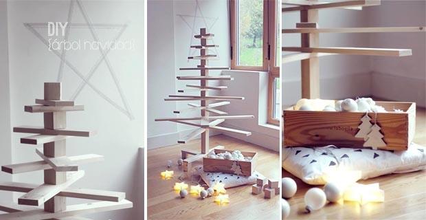 Idee per un albero di natale fai da te - Decorazioni natalizie in legno fai da te ...