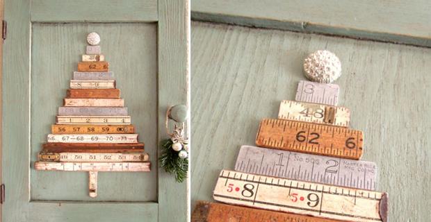 Alberi Di Natale In Legno Da Parete : Idee per un albero di natale fai da te