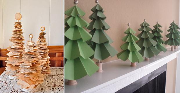 Idee per un albero di natale fai da te - Idee per centrotavola di natale ...