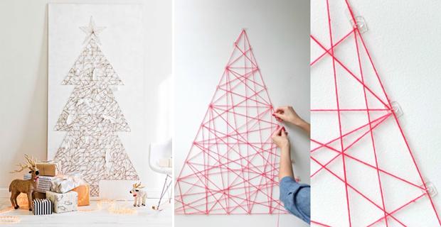 Alberi Di Natale In Legno Da Appendere : Idee per un albero di natale fai da te