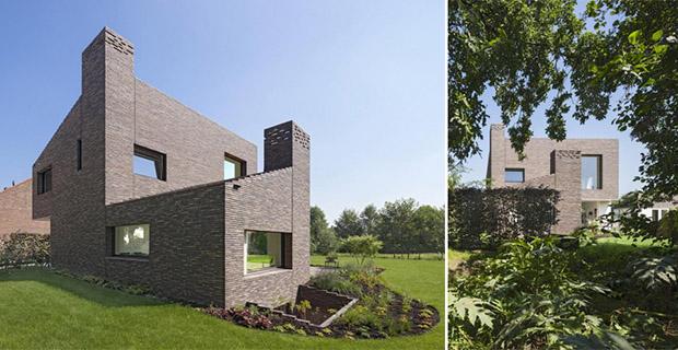 La casa in laterizio che rivisita la tradizione olandese for Architettura olandese