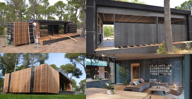 4 giorni e 4 persone per realizzare una casa passiva low cost - Casa in legno economica ...