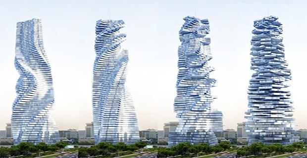 Grattacieli Rotanti La Dinamicit 224 Che Produce Energia