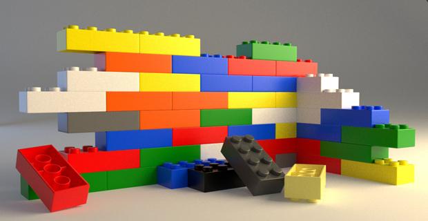 Legologica la tecnica dei mattoncini lego per un for Lego arredamento