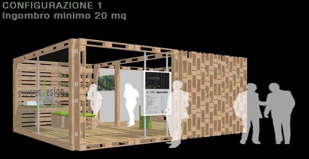 L Arredamento Fai Da Te : Pallet riutilizzo creativo per un allestimento espositivo