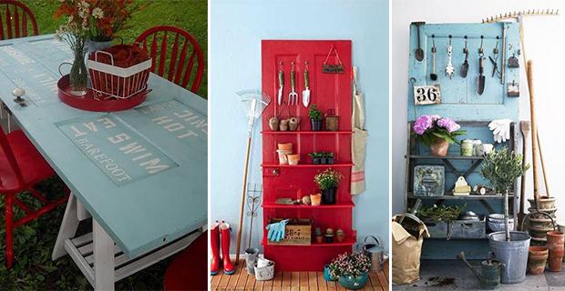 Idee per riciclare vecchie porte e finestre - Finestre fai da te ...