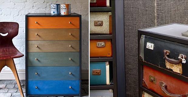 5 idee low cost per rinnovare vecchie cassettiere - Tecniche per rinnovare mobili ...