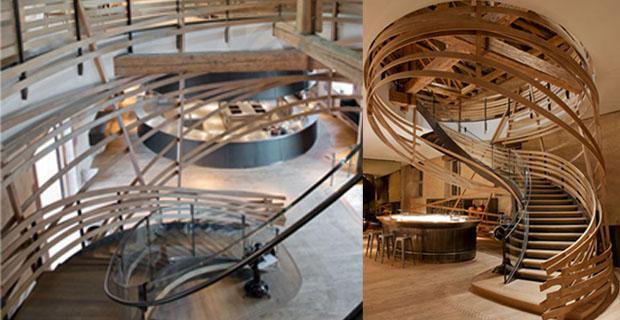 Strasburgo la scala in legno il cuore della for Piani di casa con scala curva