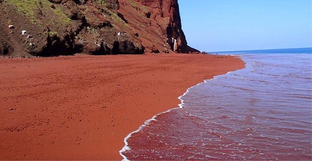caption:La spiaggia dell'isola Rabida, Galapagos