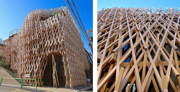 Kengo kuma l edificio una scultura di legno for Architetto giapponese