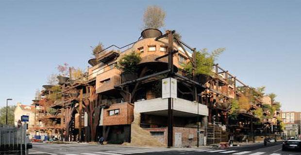 Costruire Una Casa In Legno : Verde l edificio foresta a torino