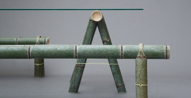 Arredi tradizionali in bamb reinterpretati da stefan diez for Arredamento bambu