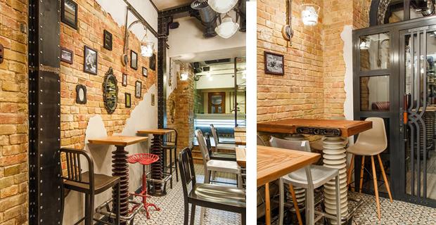Arredamento Design Riciclo : Riciclo e arredamento gli interni del bar ...
