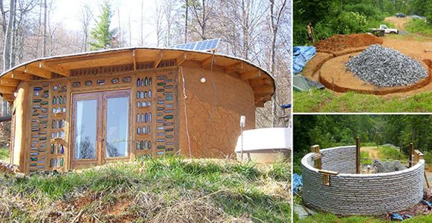 La casa costruita con sacchi di terra for Casa costruita