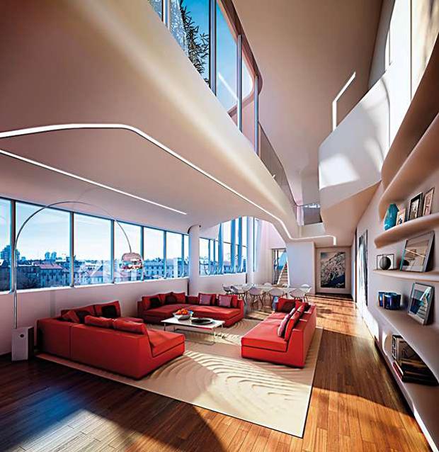 City life hadid libeskind e isozaki per un quartiere di for Appartamenti di design milano