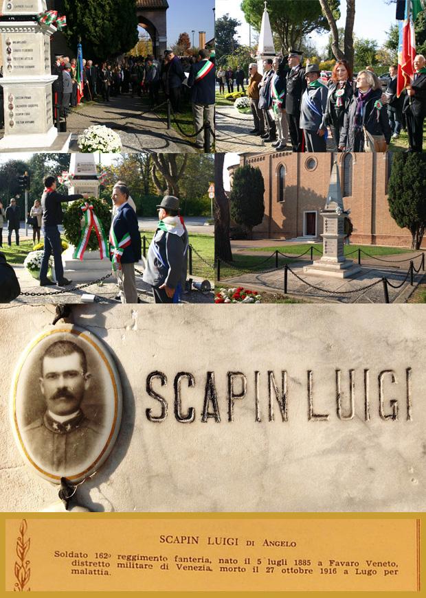 caption: Foto del monumento ai caduti a Dese Di Favaro Veneto