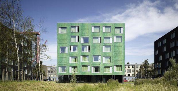 caption: Student Housing DUWO, Mecanoo Architects, Delft, Netherlands, 2009.