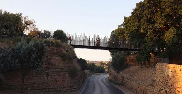 La passerella nella Valle dei Templi di Agrigento
