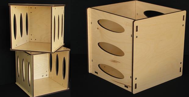 caption: Cubotti: porta oggetti in pannelli multistrato di betulla.