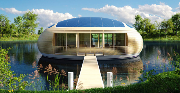 La casa galleggiante ecosostenibile e riciclabile for Case ecosostenibili progetti