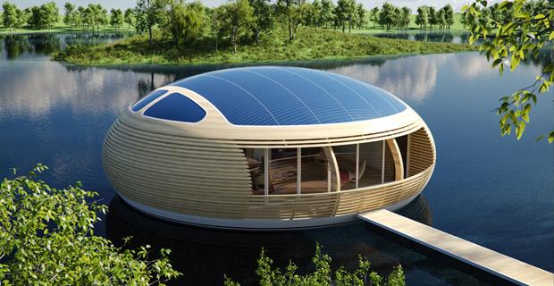 La casa galleggiante ecosostenibile e riciclabile for Progetti di edilizia eco friendly