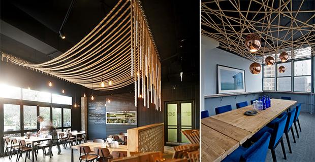 Soffitti In Legno Design : Acoustic rafts soffitto in legno ad isola