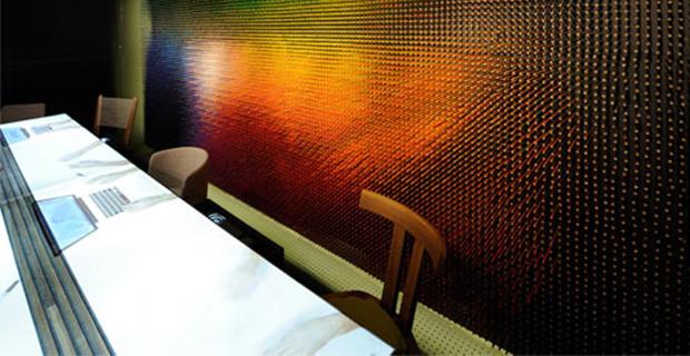 Decorare le pareti con le matite colorate
