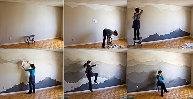 Idee per dipingere le pareti sfondi acquerellati e paesaggi naturali - Dipingere le pareti di casa ...