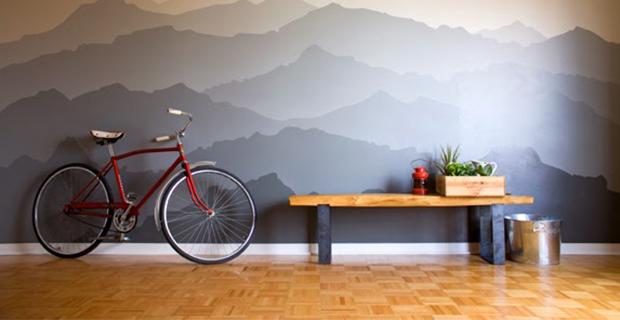 Idee per dipingere le pareti sfondi acquerellati e paesaggi naturali - Murales camera da letto ...