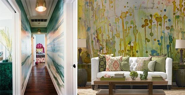 idee per dipingere le pareti: sfondi acquerellati e paesaggi naturali - Carta Da Parati Paesaggi Naturali