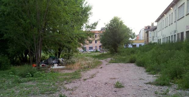 """caption: L'area oggetto dell'intervento prima della bonifica. Foto dalla pagina Facebook """"Il Gattoparco"""""""