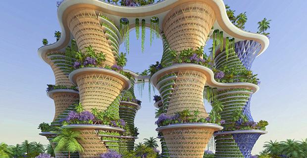 Le torri giardino futuristiche di vincent callebaut for Case futuristiche