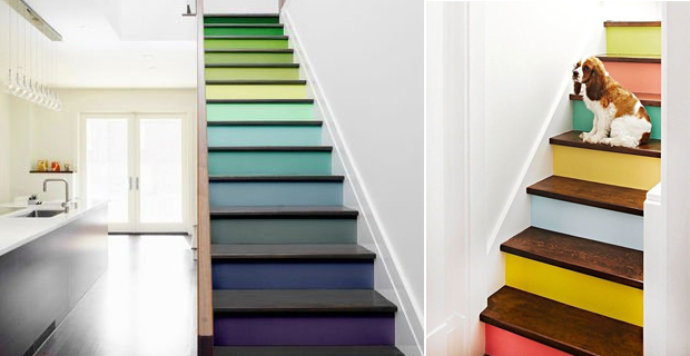 Idee creative per decorare le scale con pattern colori e - Arredare scale interne ...