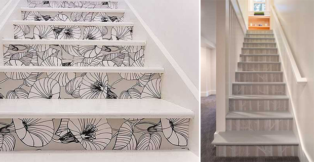 Idee creative per decorare le scale con pattern colori e - Come disegnare interni ...