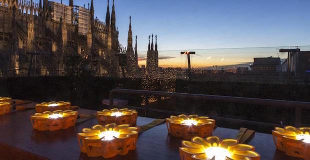 caption: Little Sun, terrazza de la Rinascente, Milano, 2012, foto Marco Beck Peccoz