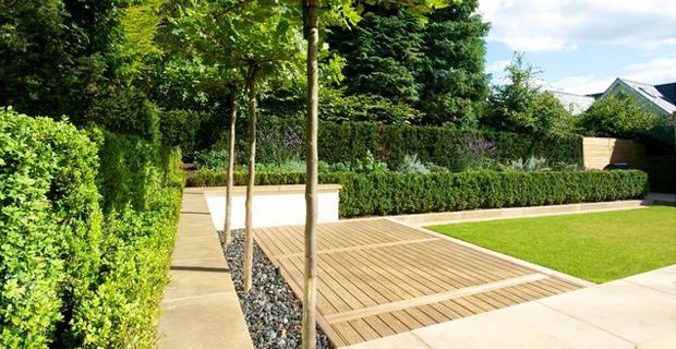 Pavimentazione del giardino idee e suggerimenti nel rispetto della natura - Pavimentazione giardino in legno ...