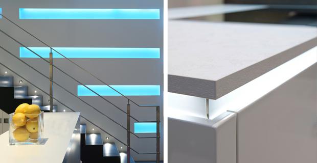 Strisce led per il design di interni: illuminare la zona giorno
