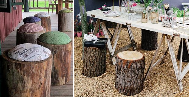 Tronchi d 39 albero idee per trasformarli in elementi d 39 arredo - Fermatovaglia per tavoli di plastica ...