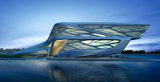 caption: Abu Dhabi Performing Arts Centre (2007) © Zaha Hadid Architects