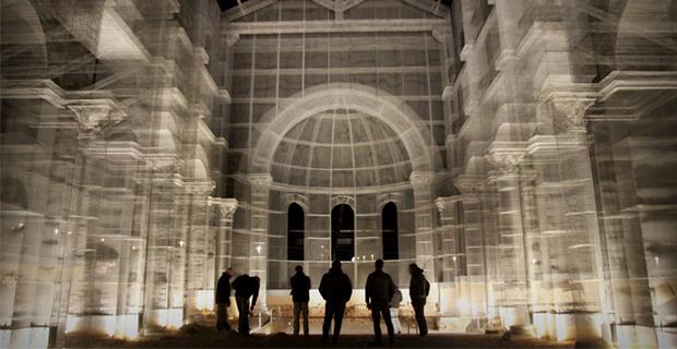 Basilica in fil di ferro: la ricostruzione dell'opera paleocristiana di Siponto