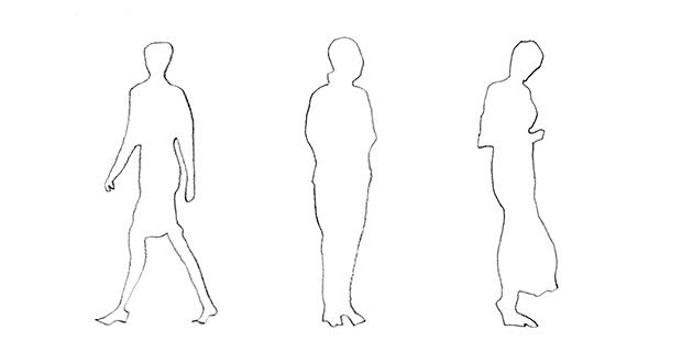 Figure Di Persone Stilizzate.Rappresentazione Di Sagome Umane In Architettura Dimmi Come Le