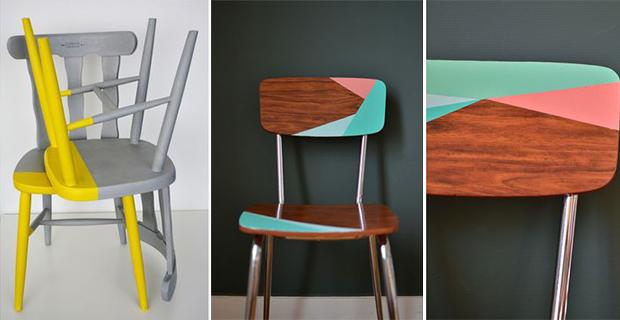 Sedie Dipinte A Mano : Come rinnovare sedie in legno. idee e colori