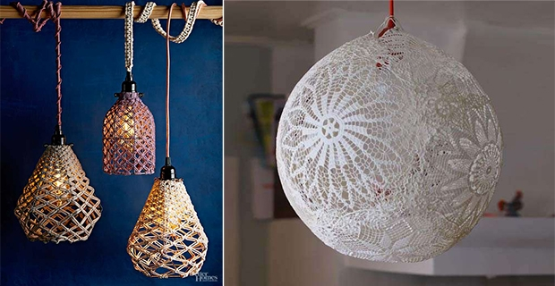 Costruire Una Casa In Legno : Idee per lampade fai da te